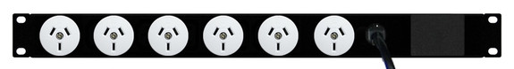 Power Strip: 6x Outlets | Aus GPO | 19'' 1RU Horizontal