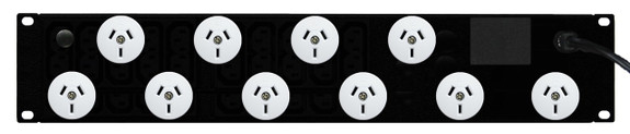 Power Strip: 10x Outlets | Aus GPO | 19'' 2RU Horizontal