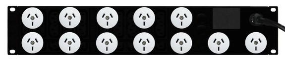 Power Strip: 12x Outlets | Aus GPO | 19'' 2RU Horizontal