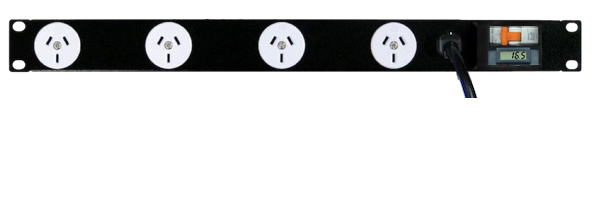 4x GPO 10A outlets, 10A breaker, LCD Energy Meter