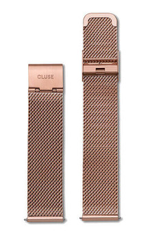 Cluse La Bohème Womens Leather Watch Strap Mesh Rose Gold CLS045