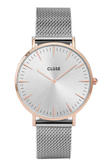 Cluse Boho Chic Mesh Rose Gold/Silver Womens Mesh Watch CW0101201006