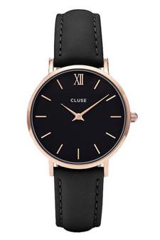 Cluse Minuit Rose Gold Black/Black Watch CW0101203013