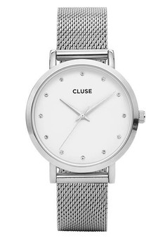 Cluse Pavane Silver Stones Mesh Womens Watch CW0101202001