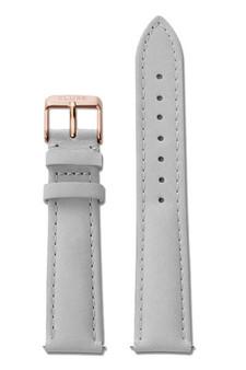 Cluse La Bohème Womens Leather Watch Strap Grey/Rose Gold CLS019