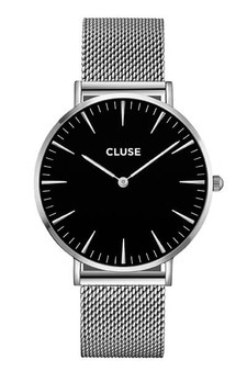 Cluse Boho Chic Mesh Silver/Black Womens Mesh Watch CL18106
