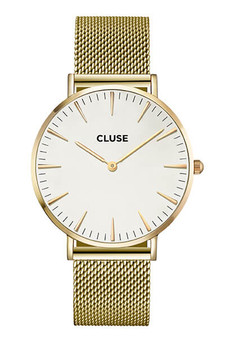 Cluse Boho Chic Mesh Gold/White Womens Mesh Watch CW0101201009