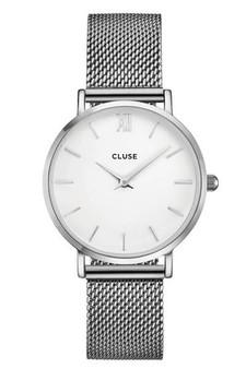 Cluse Minuit Mesh Silver/White CW0101203002