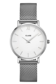 Cluse Minuit Mesh Silver/White CW0101203002