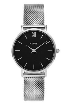 Cluse Minuit Silver Mesh/Black CW0101203005
