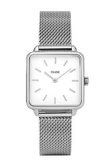 Cluse La Tetragone Silver Mesh Watch CW0101207003