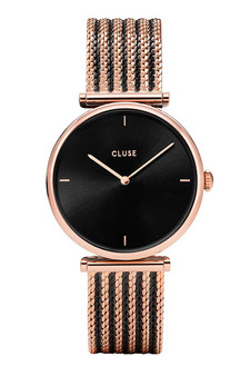 Cluse Triomphe Mesh Bicolor Rose Gold/Black Watch CW0101208005