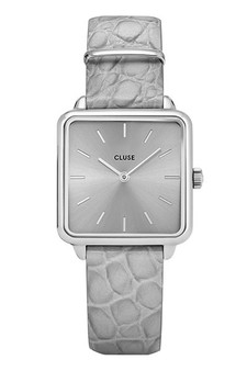 Cluse La Tetragone Silver Grey/Grey Alligator CL60018