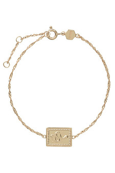 Cluse Force Tropicale Gold Twisted Chain Tag Bracelet CLJ11022