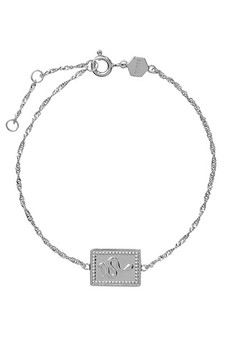 Cluse Force Tropicale Silver Twisted Chain Tag Bracelet CLJ12022
