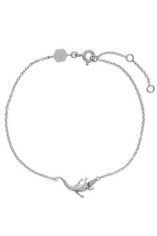 Cluse Force Tropicale Silver Alligator Chain Bracelet CLJ12021