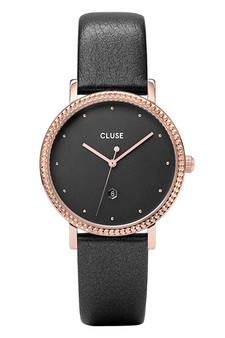 Cluse Le Couronnement Rose Gold/Dark Grey Leather Watch CW0101209007