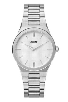 Cluse Vigoureux 33 Silver/Snow White Silver Watch CW0101210003