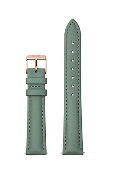 Cluse 16mm Watch Strap Stone Green/Rose Gold Leather CS1408101084