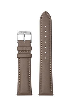 Cluse 18mm Watch Strap Taupe/Silver Leather CS1408101085