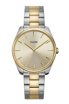 Cluse Feroce Silver/Soft Gold Two Tone Link Watch CW0101212004