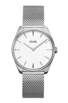 Cluse Feroce Silver White/Silver Mesh Watch CW0101212001
