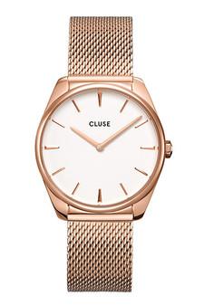 Cluse Feroce Rose Gold White/Rose Gold Mesh Watch CW0101212002