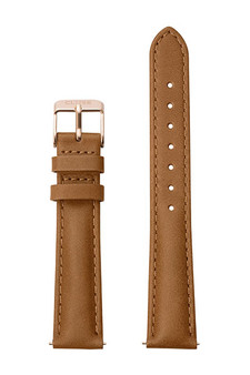 Cluse 16mm Watch Strap Caramel/Rose Gold Leather CLS303