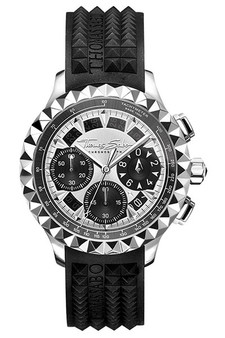 Thomas Sabo Men's Watch Rebel At Heart Chronograph Silver Black TWA0357