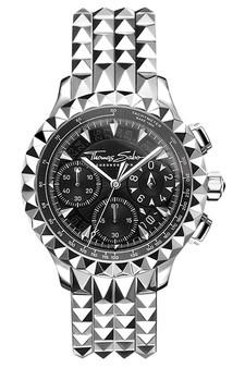Thomas Sabo Men's Watch Rebel At Heart Chronograph Silver Black TWA0358
