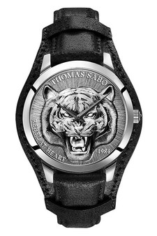 Thomas Sabo Men's Watch Rebel Tiger 3D Black-silver TWA0367