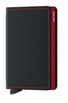 Secrid Slimwallet Matte Black & Red Wallet SC7254
