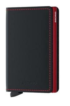 Secrid Slimwallet Matte Black & Red Wallet SC7254