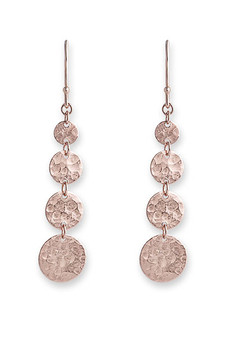 Bianc Rose Gold Jingle Hook Earrings 10100356