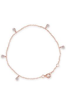 Bianc Rose Gold CZ Bezel Scattered Drop Bracelet 40100191