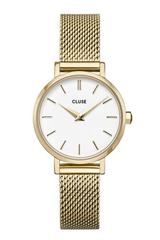Cluse Boho Chic Petite Mesh Gold/White Watch CW0101211001