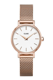 Cluse Boho Chic Petite Mesh Rose Gold/White Watch CW0101211003