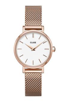 Cluse Boho Chic Petite Mesh Rose Gold/White Watch CW0101211003