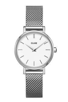 Cluse Boho Chic Petite Mesh Silver/White Watch CW0101211007