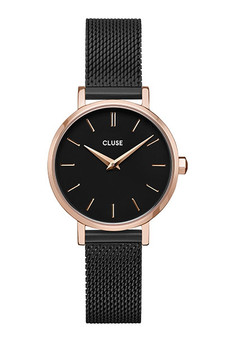 Cluse La Boheme Petite Mesh Rose Gold/Black Watch CW0101211004