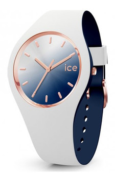 Ice Duo Chic White Marine Medium 3H Watch 16983