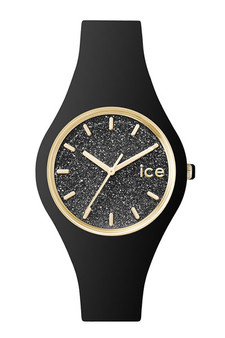 Ice Glitter Gold/Black 40mm Medium Watch 1356
