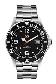 Ice Steel Black/Silver 44mm Large Watch 16032