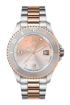 Ice Steel Silver Sunset Rose Gold Medium 3H Watch 16769