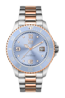 Ice Steel Sky Silver Rose Gold Medium 3H Watch 16770