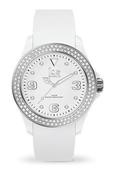 Ice Star White Silver Smooth Small 3H Watch 17230