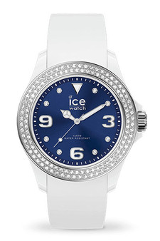 Ice Star White Deep Blue Smooth Small 3H Watch 17234