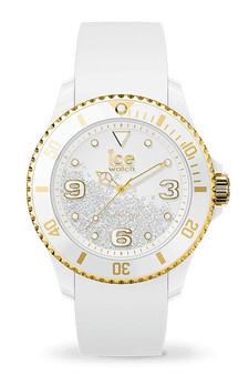 Ice Crystal White Gold Smooth Medium 3H Watch 17247