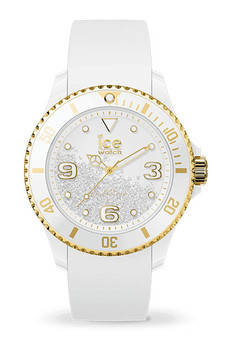 Ice Crystal White Gold Smooth Medium 3H Watch 17247