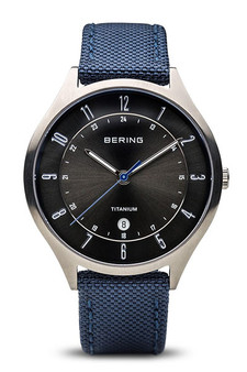 Bering Titanium Brushed Silver Watch 11739-873